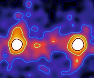 Première image du réseau de matière noire qui relie les galaxies