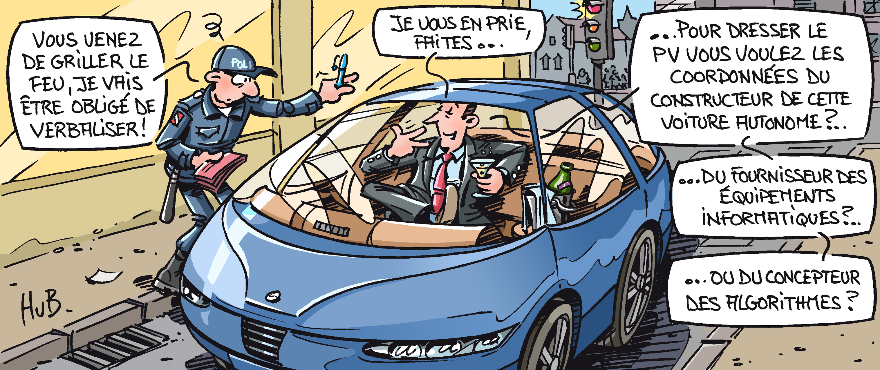 Dessin Quels freins au véhicule autonome made in France ?