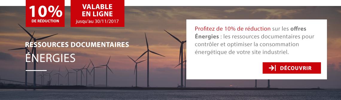 10% de réduction sur ressources documentaires Energies