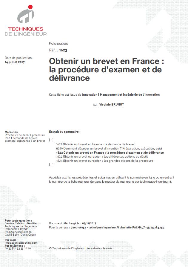 Obtenir un brevet en France : la procédure d'examen et de délivrance
