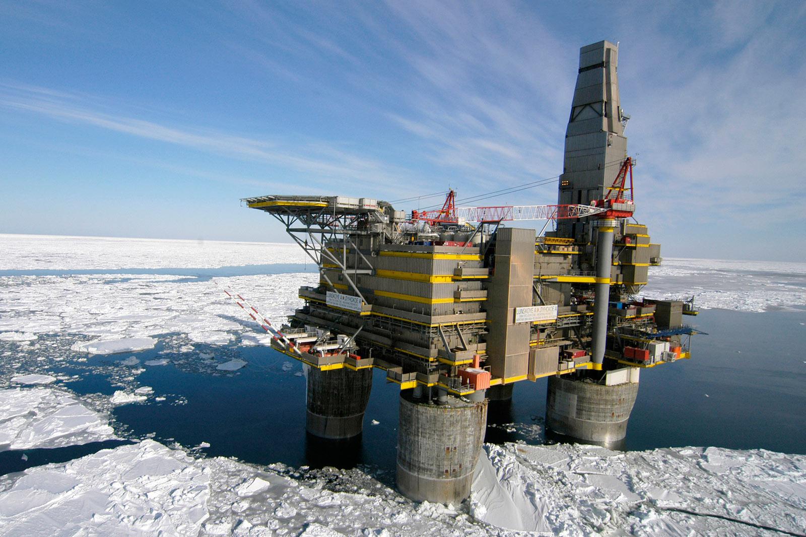 Plateforme arctique Gazprom