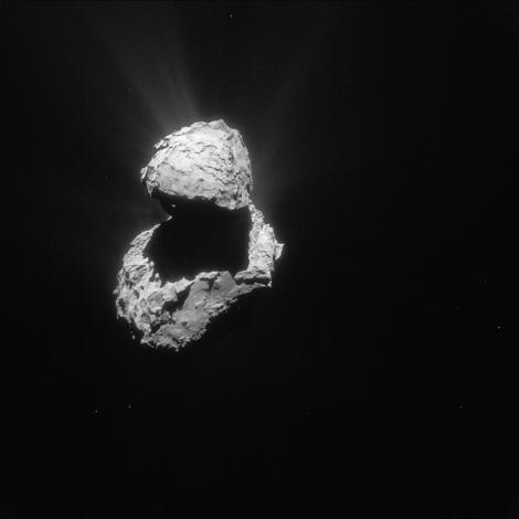 © ESA/Rosetta/Navcam – CC BY-SA IGO 3.0 Image de la comète Tchouri prise par la sonde Rosetta