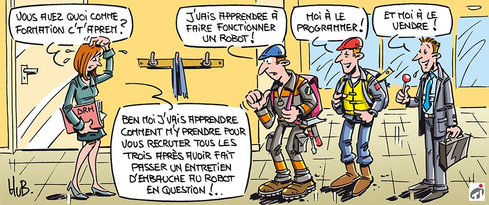Dessin Industrie française : plans d'avenir