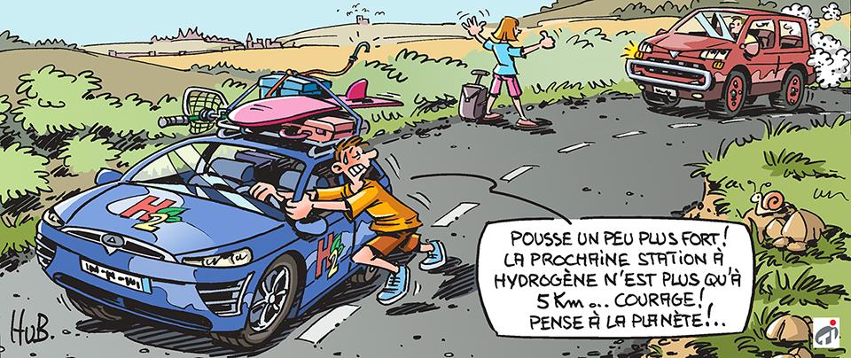 Dessin Voitures à hydrogène : la fausse bonne idée ?