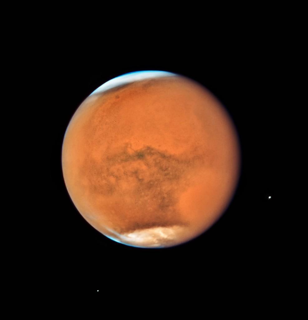Mars vu par Hubble le 18 juillet 2018. Credit: NASA, ESA, et STScI