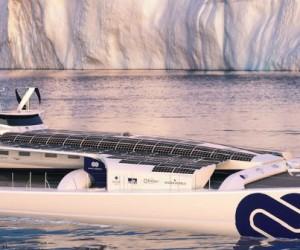 Climat: le bateau laboratoire Energy Observer rejoint l'océan arctique
