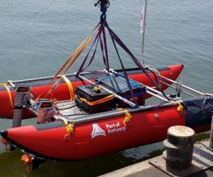 Echodrone, le bateau-robot du port d'Anvers