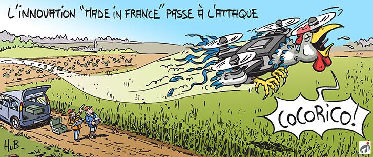 Dessin Les atouts français dans la course à l'innovation