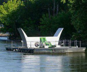 La première ferme d'hydroliennes fluviales est sur le Rhône