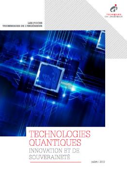 Technologies quantiques: un défi d'innovation et de souveraineté