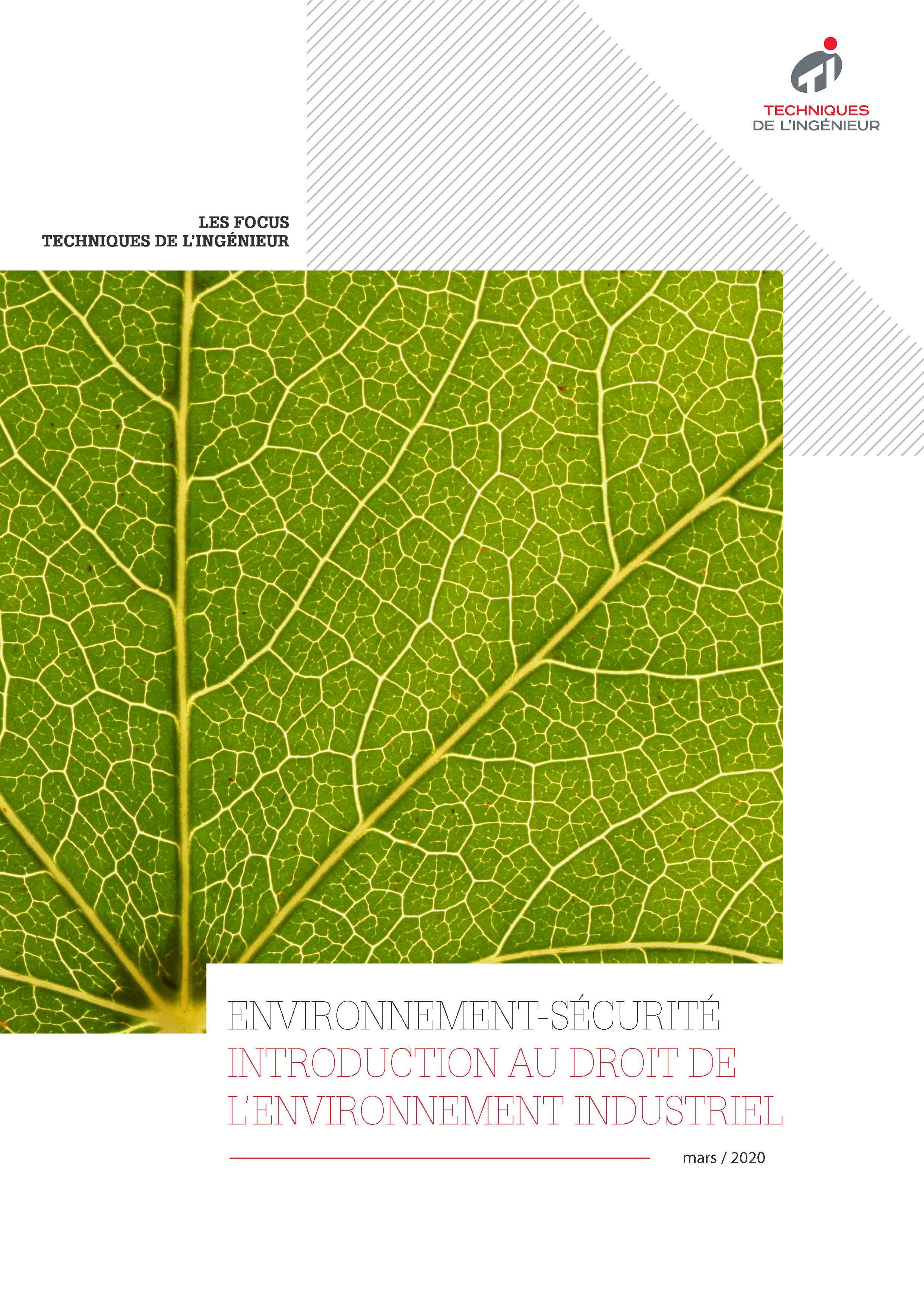 Introduction au droit de l'environnement industriel