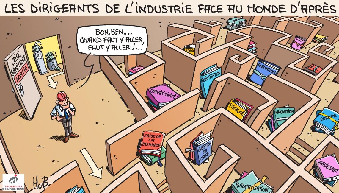 Dessin Regards de dirigeants sur l'industrie française