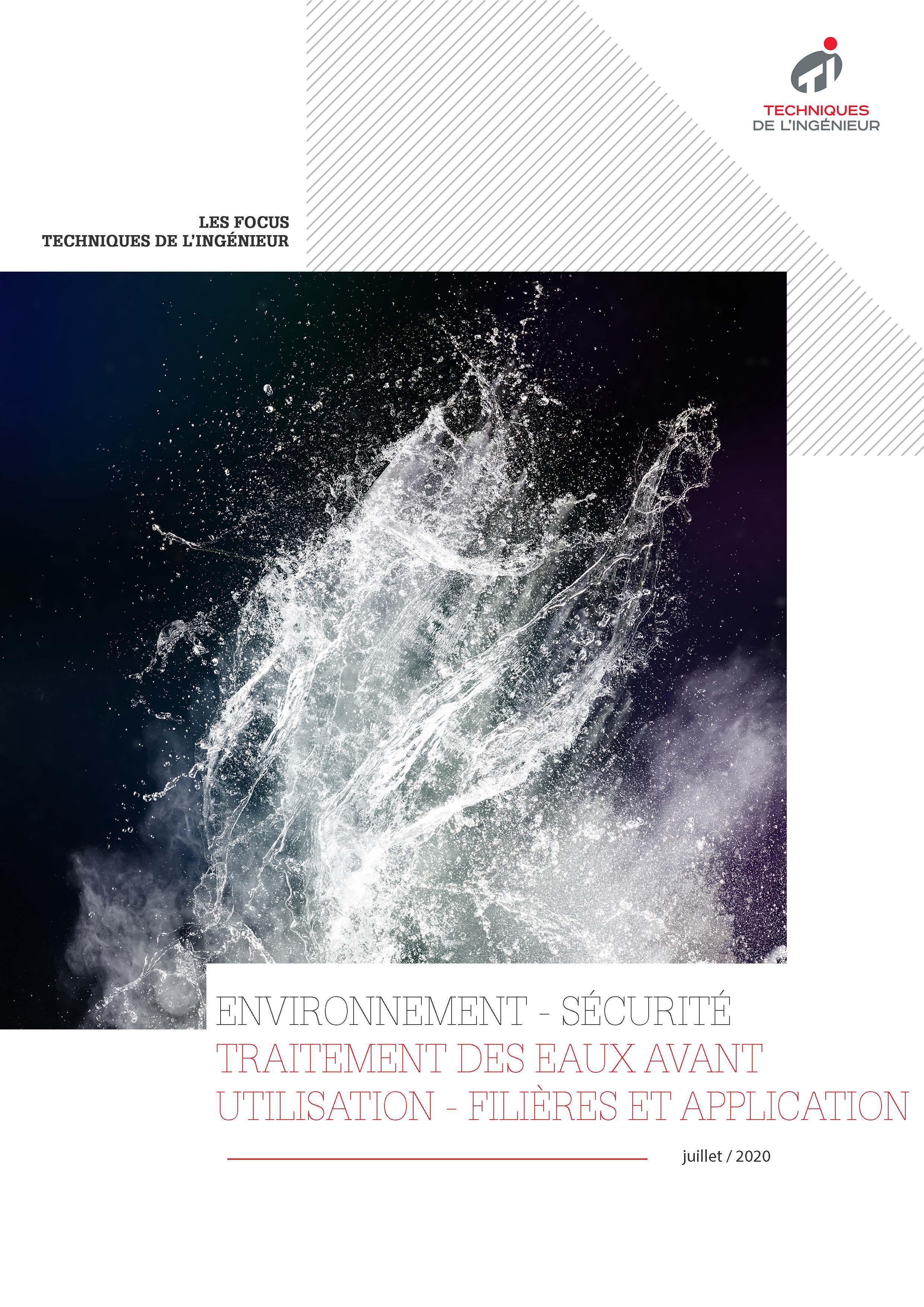 Traitement des eaux avant utilisation - Filières et applications
