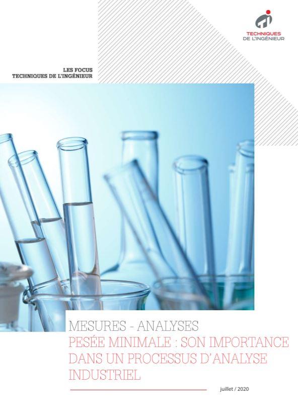 Pesée minimale : quelle est son importance dans un processus d'analyse industrielle ?