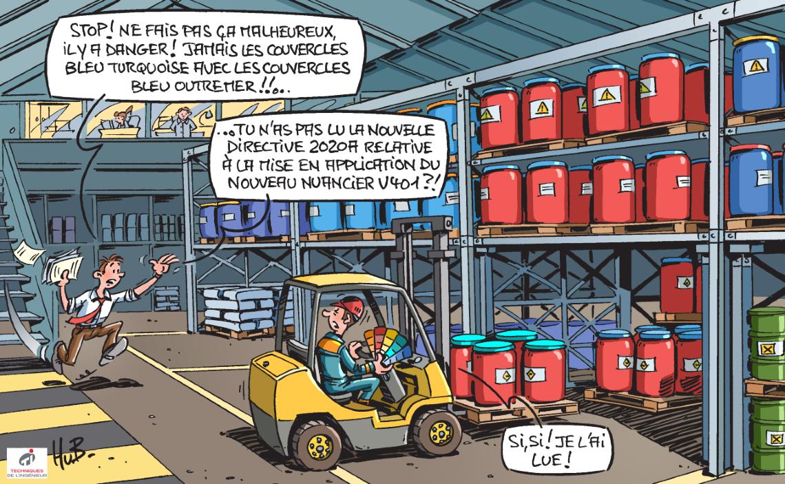 Dessin La prévention du risque sur les sites industriels, une affaire d'amélioration continue