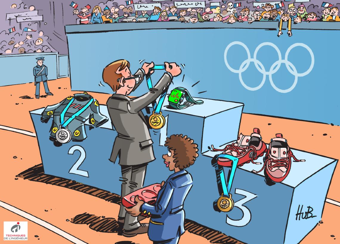 Dessin Les nouvelles technologies révolutionnent l'approche du sport