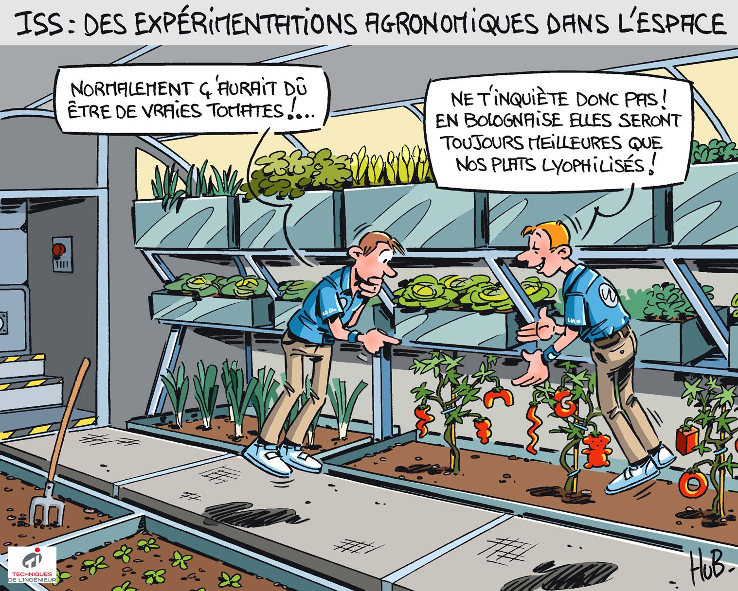 Dessin Les technologies spatiales au service de l'agriculture