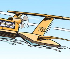 En image : des bateaux volants testés à Bayonne