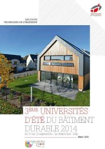 Bâtiment durable : 3e universités d'été