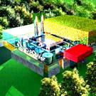 Construction de la première centrale électrique au BioSynGaz