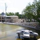 Rénovation d'un lac grâce à des géosynthétiques innovants