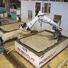 Un robot, mais tailleur de pierres naturelles