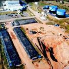 Dépollution en milieu insulaire du site d'une centrale thermique